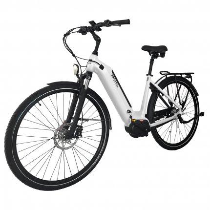 """E-Bike 28"""" Hollandrad B14_FBA AsVIVA 36V Elektrofahrrad Pedelec Mittelmotor weiß"""