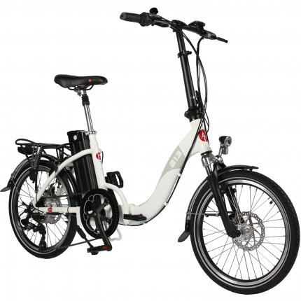 "AsVIVA B13 20"" E-bike Folding Bike 36V electric folding pedelec bike white"