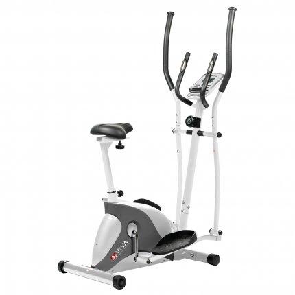 AsVIVA C16 Bluetooth 2 in 1 Cardio Cross Trainer & Exercise Bike white