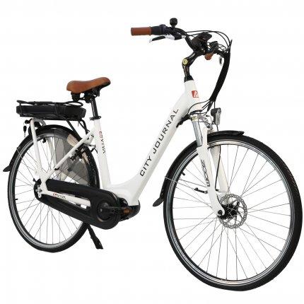 """E-Bike 28"""" Hollandrad B14 AsVIVA 36V Elektrofahrrad Pedelec Mittelmotor weiß"""