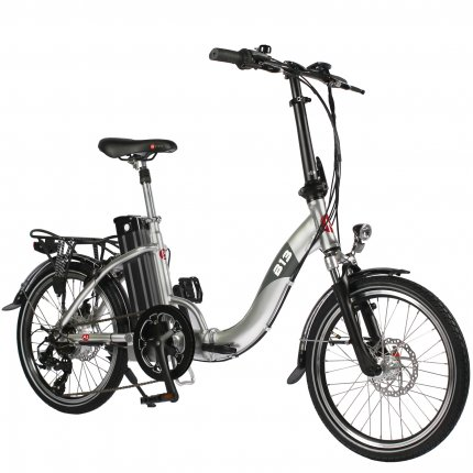 "AsVIVA B13 20"" E-bike Folding Bike 36V electric folding pedelec bike silver"