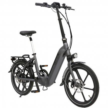 """E-Bike 20"""" Klapprad B13 Stadtfalter AsVIVA 36V Elektro-Klapprad Elektrofahrrad Pedelec grau"""