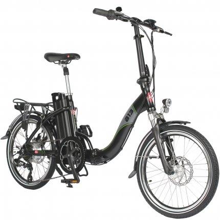 "AsVIVA B13 20"" E-bike Folding Bike 36V electric folding pedelec bike black matte"